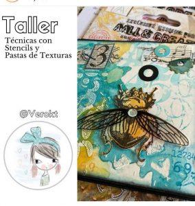Vero TK - Taller Técnicas Stencil y Pastas Textura - Madrid