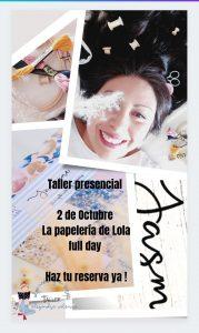 Alejandra Valencia- Taller - Madrid @ La Papelería de Lola